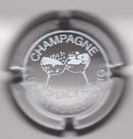 Capsule Champagne LEROY_ASSELBOURG ( 8 ; Gris-argenté Et Blanc ) {S18-20} - Champagne