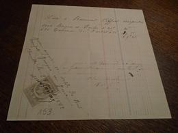1882-MAINE/LOIRE  (St Pierre -CHEMILLE) -  FACTURE+ Timbre FISCAL Dentelé (de QUITTANCE) +3 Photos - Steuermarken