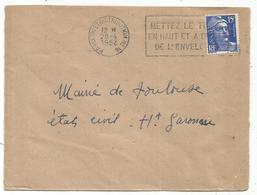 GANDON 15FR BLEU LETTRE MECANIQUE ESSAI PARIS TRI DISTRIBUTION N°16 28.4.1953 COTE 120€ RARE - 1945-54 Marianne Of Gandon