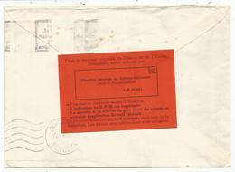 GANDON 15FR BLEU LETTRE ENTETE HAUT COMMISSARIAT EN ALLEMAGNE POSTE AUX ARMES 1954 + ETIQUETTE ROUGE RARE AU DOS - 1945-54 Marianne Of Gandon