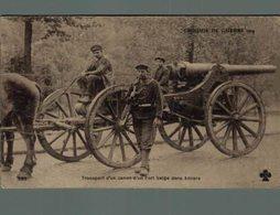 Croquis De Guerre Transport D' Un Canon D' Un Fort Belge Dans Anvers  WWI ANTWERPEN ANVERS WWICOLLECTION - Belgique