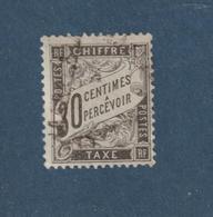 18 De 1881-92  - TAXE - Oblitéré  - Type Duval - 30c. Noir -  2 Scannes - 1859-1955 Afgestempeld