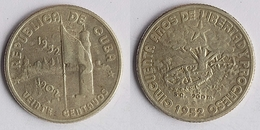 Cuba 20 Centavos, 1952 50th Anniversary - Republic Of Cuba KM # 24 - Kuba
