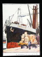 """LE HAVRE  Bateau Cargo """"CARBET""""  – Compagnie Générale Transatlantique - Coupure De Presse (illustration) De 1930 - Schiffe"""