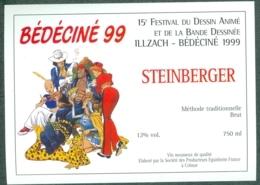Etiquette De Vin Alsace Bédéciné 1999 - 15ème Festival BD à  Illzach Haut-Rhin , Dessin De Marini - Fumetti