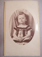 CDV Photographie De Marguerit à ALAIS (30) - Portrait Fillette En Médaillon - Robe à Voir - Mode - Circa 1875/80   BE BE - Anciennes (Av. 1900)