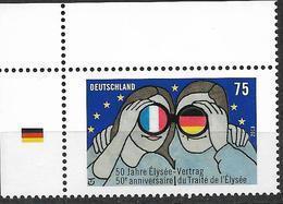 2013  Deutschland Allem. Fed. Mi. 2977 **MNH  EOL 50 Jahre Elysée-Vertrag über Die Deutsch-französische Zusammenarbeit. - [7] Repubblica Federale