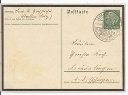 Dt.- Reich (002230) Ganzsache P235 Hindenburg Trauerrand, Gelaufen Sonderstempel Stauffen Am 2.10.1934 - Germania