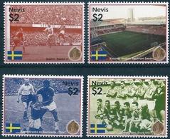 B8593 Nevis Sport Football World Cup Flag Architecture Stadium MNH - 1958 – Zweden