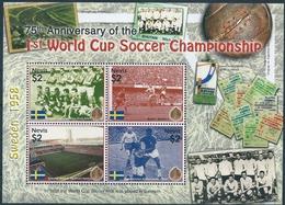 B8594 Nevis Sport Football World Cup Flag Architecture Stadium S/S MNH - 1958 – Zweden