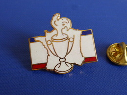 Pin's Coupe De France - Carte - Football - Coq Sportif Tricolore Foot Ballon (PAC38) - Football