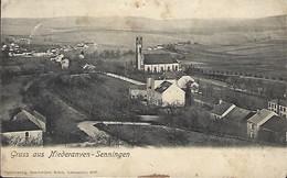Luxembourg  - Gruss Aus Niederanven - Senningen - Papierverlag , Geschwister Brück , Luxembourg 4835  - 2 Scans - Pétange
