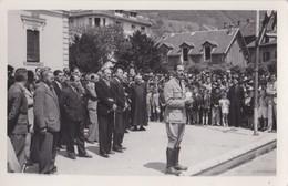 CARTE PHOTO ALBERTVILLE 3 JUILLET 1941 VISITE DE GEORGES LAMIRAND  GUERRE WWII CHANTIERS DE LA JEUNESSE REGIME DE VICHY - Albertville
