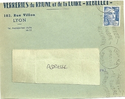 RHONE - Dépt N° 69 = LYON RP 1951 = FLAMME Texte Ondulé = KRAG ' ACHETEZ / TIMBRE / ANTITUBERCULEUX' - Oblitérations Mécaniques (flammes)