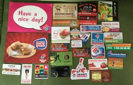 Lot Of 27 Israeli Advertising Food Magnets: Pizza, Sushi, Rap N' Roll, Cheese - Publicitaires