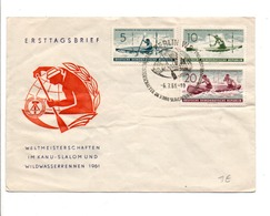 ALLEMAGNE RDA DDR FDC 1961 CHAMPIONNATS DU MONDE CANOE KAYAK - [6] Democratic Republic
