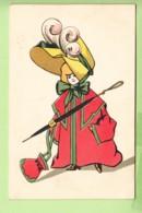 Illustrateur : Dame En Rouge Avec Son Chapeau Et Parapluie - Publicité Chapellerie BENNET 22, Bld Sébastopol Paris 4 ème - Advertising