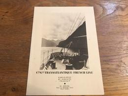 Paquebot Meknes Menu Du 9 Octobre 1939 Couverture En Norvège Fjord - Menu