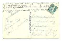 RHONE - Dépt N° 69 = LYON RP 1949 = FLAMME KRAG ' TENTEZ LA CHANCE / LOTERIE / NATIONALE' - Oblitérations Mécaniques (flammes)