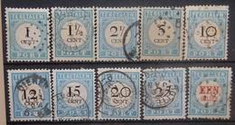 NEDERLAND  1881-87    Portzegels   P 3 - P 12    Gestempeld     CW 140,00 - Postage Due
