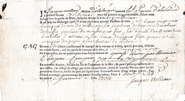 1732 Connaiss.BORDEAUX-PONTRIEUX - Marquis De GAGE - Vin, Jambon De Bayonne, TRUFFES, Mousserons, Câpres.. - Historische Dokumente