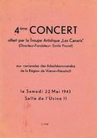 WW 1943 - 4ème CONCERT Offert Aux Camarades Des ARBEITSKOMMANDOS De WIENER-NEUSTADT - Documents Historiques