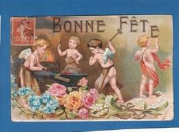 CARTE BONNE FETE DES ANGES QUI FORGE - Holidays & Celebrations