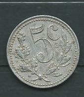 Algérie, Chambre De Commerce D'Alger ,5 Centimes 1916 , Aluminium -  Pieb23006 - Algerien