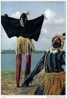 Carte Postale Afrique   Nzérékoré   Masque Africain  African Mask édit: Hoa-Qui N° 4375 - Ansichtskarten