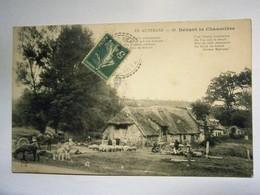 Auvergne Devant De Chaumière Animé,Puy De Dôme 63,voyagée 1911,très Bel état - Fattorie