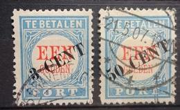 NEDERLAND     Portzegels   P 27-  P 28       Gestempeld     CW 195,00 - Postage Due
