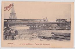 PARIS - Le Métropolitain Passerelle D'Auteuil En Travaux Tour Eiffel Maggi - Métro Parisien, Gares