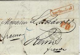 "1860- Letter From St Petersbourg To Rheims ( France )"" Franco"" + P.D.   Entrance PRUSSE A ERQUELINES - A  Black - Marcophilie (Lettres)"