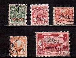 Burma-1949,(Mi.55-) ,Used(5 Stamps) - Myanmar (Burma 1948-...)