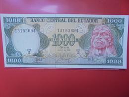 EQUATEUR 1000 SUCRES 1988 PEU CIRCULER/NEUF (B.12) - Ecuador