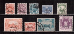 Burma-1947,(Mi.66-70,72-75) ,Used(9 Stamps) - Myanmar (Burma 1948-...)