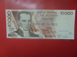 EQUATEUR 10.000 SUCRES 1999 PEU CIRCULER/NEUF (B.12) - Ecuador