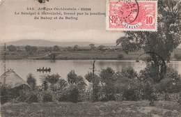 Senegal à Bafoulabé Formé Par La Jonction Du Bakoy Et Du Bafing + Timbre Cachet 1908 , Afrique Occidentale Française - Sénégal