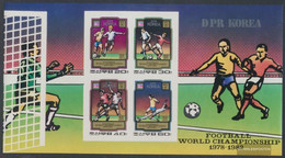 North-Korea Block78B (complete Issue) Unmounted Mint / Never Hinged 1980 Football-WM 1978 And 1982 - Korea (Nord-)