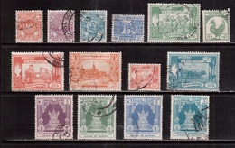 Burma-1954,(Mi.140-153) ,Used(complete Set) - Myanmar (Burma 1948-...)