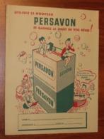PROTÈGE CAHIER - Savon Lessive PERSAVON - Année 56 - 18x24 - Très Bon Etat : Voir Photos - 27 - Protège-cahiers