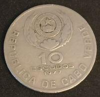 CAP VERT - CABO VERDE - 10 ESCUDOS 1977 - KM 19 - Eduardo Mondlane - Cape Verde
