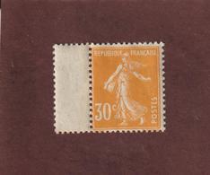 141 De 1907 - Neuf ** - Type Semeuse Fond Plein - 30c. Orange - Timbre Imprimé Sur Papier GC Blanc . - 2 Scannes - 1906-38 Sower - Cameo