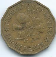 Nigeria - Federation - Elizabeth II - 1959 - 3 Pence - KM3 - Nigeria