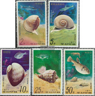North-Korea 1668A-1672A (complete Issue) Unmounted Mint / Never Hinged 1977 Sea Snails And Fish - Korea, North
