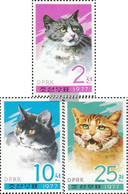 North-Korea 1659A-1661A (complete Issue) Unmounted Mint / Never Hinged 1977 Cats - Korea, North