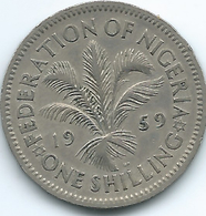 Nigeria - Federation - Elizabeth II - 1959 - Shilling - KM5 - Security Edge - Nigeria