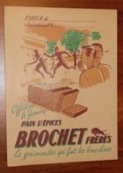 PROTÈGE CAHIER - Pain D'épices BROCHET - Sport - Années 50 - 18x24 - Très Bon Etat : Voir Photos - 28 - Protège-cahiers