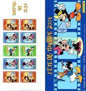 France. Carnet Bc3641a.mickey Hommage à Disney.fete Du Timbre. Annee 2004 N**.non Plié. - Stamp Day