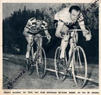 1960 : CYCLISME, TROPHÉE BARACCHI (BERGAME-BRESCIA), DEUXIEME PLACE POUR LES ITALIENS ERCOLE BALDINI ET ALDO MOSER - Collections